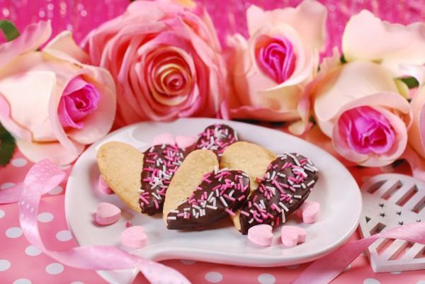 Печенье на День Валентина с глазурью