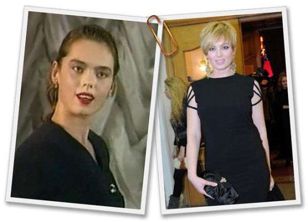 Мисс Украина Вселенная 1997 Наталья Надточий во время конкурса (слева) и сейчас