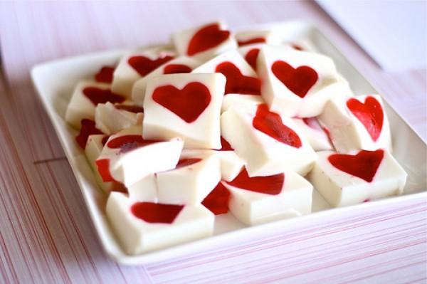 Желейный десерт на День Валентина