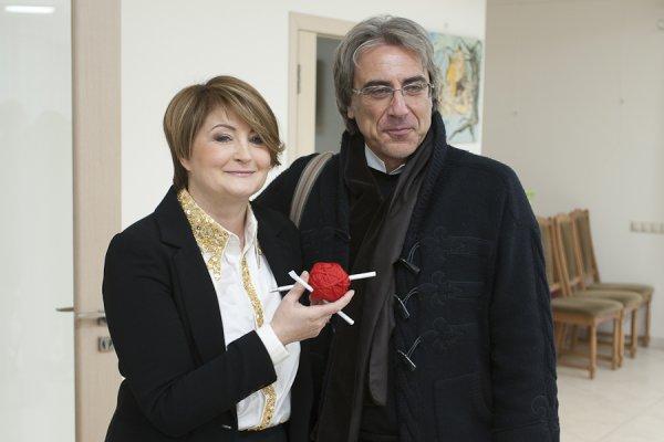 Ирина Данилевская, основатель Ukrainian Fashion Week и Маурицио Аскеро, директор по международному развитию UFW