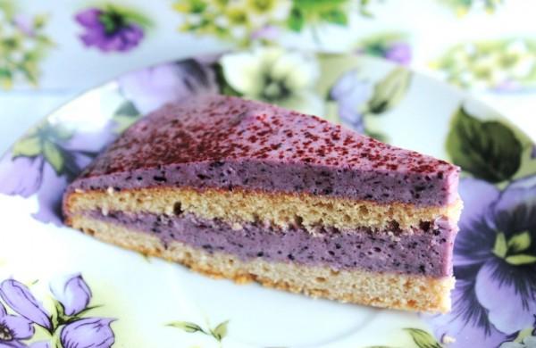 Рецепт                  Черничный торт из гречневой муки