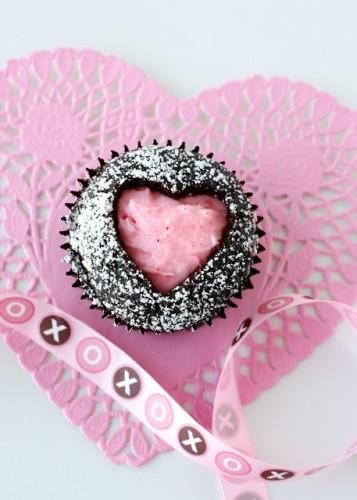 Капкейки на День святого Валентина