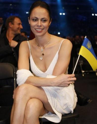 Наталья Кличко исполнила гимн Украины