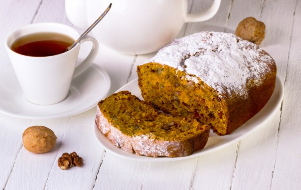 Тыквенный кекс с пряностями и грецкими орехами