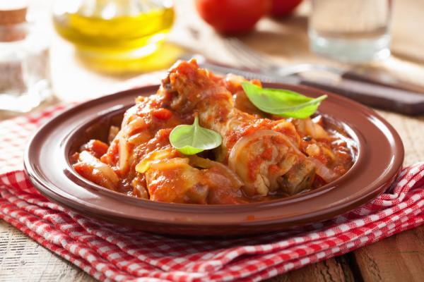 Курица с помидорами по-итальянски
