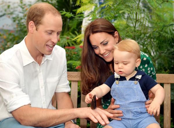Кейт Миддлтон, принц Уильям и их сын Джордж