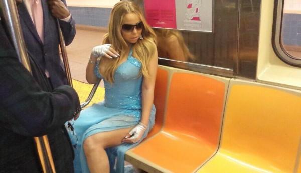 Мэрайя Кэри в метро