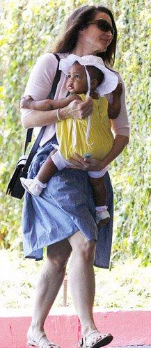Кристин Дэвис с с дочуркой Джеммой Роуз