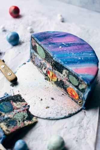 Как приготовить космическую глянцевую глазурь для торта