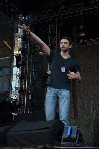 Генеральный продюссер Просто Ради.О Андрей Шабанов поприветствовал гостей ProstoRock 2012 у себя на родине – в Одессе