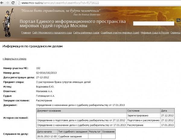 Алену Водонаеву и Алексея Малакеева ждут в суде 28 января