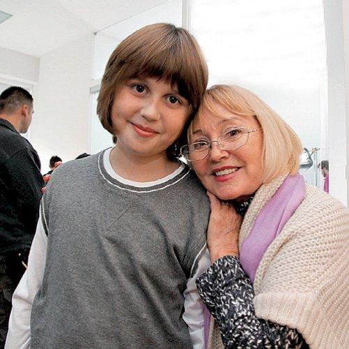Сын Насти Заворотнюк, Майкл, со своей бабушкой