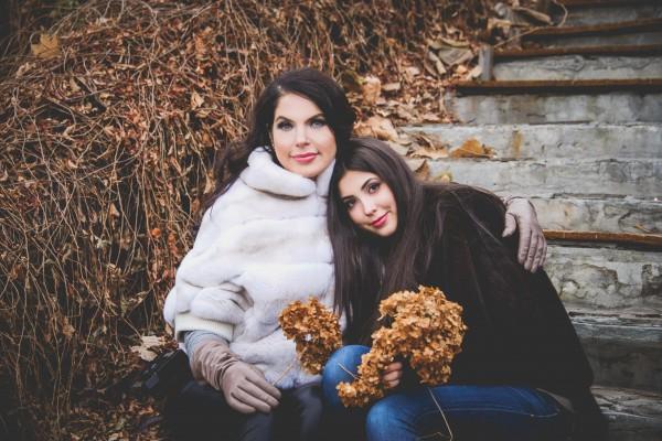 Влада Литовченко с младшей дочкой Кристиной
