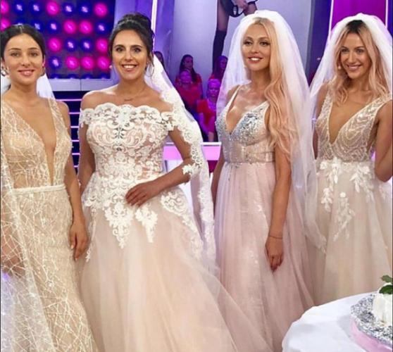 Злата Огневич, Джамала, Оля Полякова и Леся Никитюк в свадебных платьях