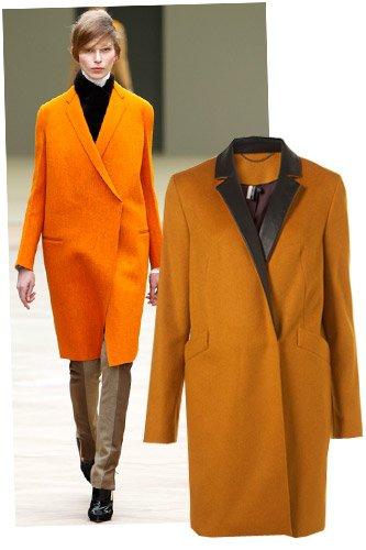 Слева направо: пальто Celine осень-зима 2011-2012, пальто Topshop