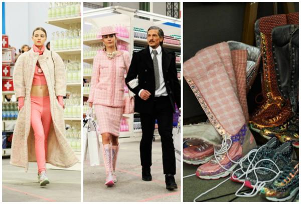 Кроссовки стали главной обувью показа Chanel осень-зима 2014-2015