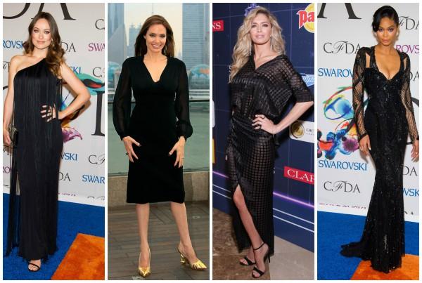 Оливия Уайлд, Анджелина Джоли, Вера Брежнева и Шанель Иман сделали ставку на черное.