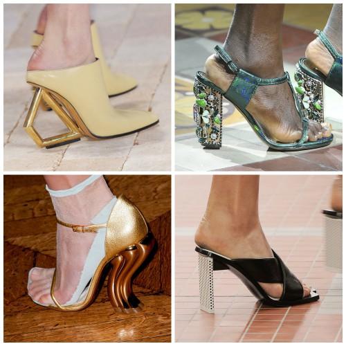 Особое внимание дизайнеры уделили каблукам