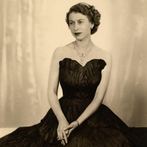 Королева Елизавета II в молодости