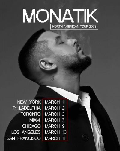 Расписание концертного тура MONATIK фото