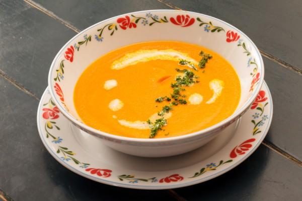 Рецепт                  Морковный суп с имбирем и корицей