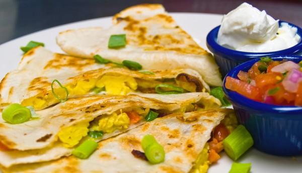 Рецепт                  Кесадилья с жареным яйцом