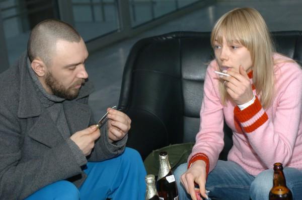 Сергей Шнуров и актриса Оксана Акиньшина