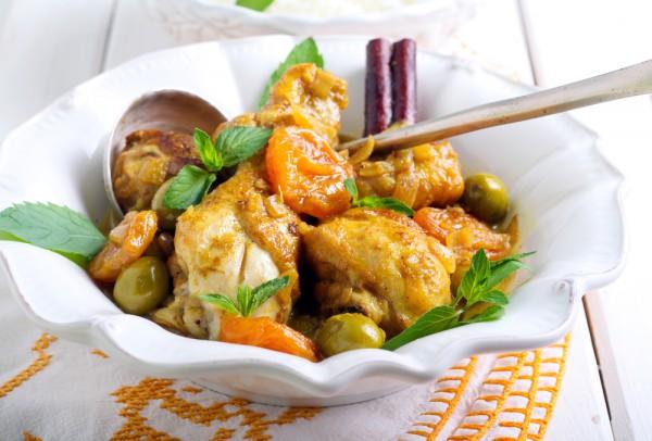 Курица по-китайски с абрикосами