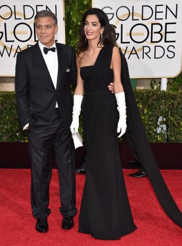 Джордж Клуни подшутил над своей женой на вручении премии Золотой глобус