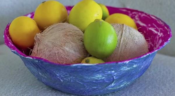 Корзина для фруктов из папье-маше