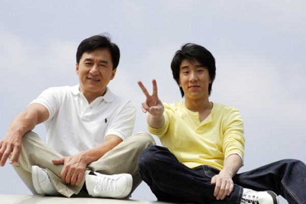Джеки Чан с сыном Джейси