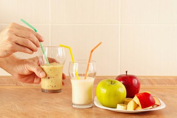 Смузи из яблок и банана