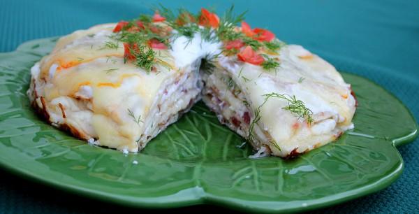Рецепт                  Закусочный торт с мясом
