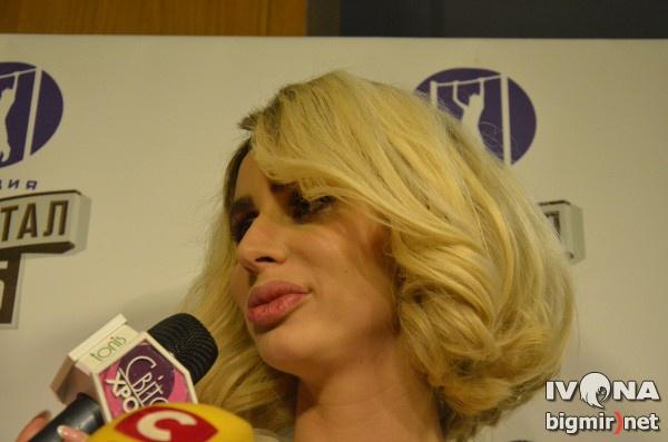 Светлана Лобода на съемке программы Квартал-95