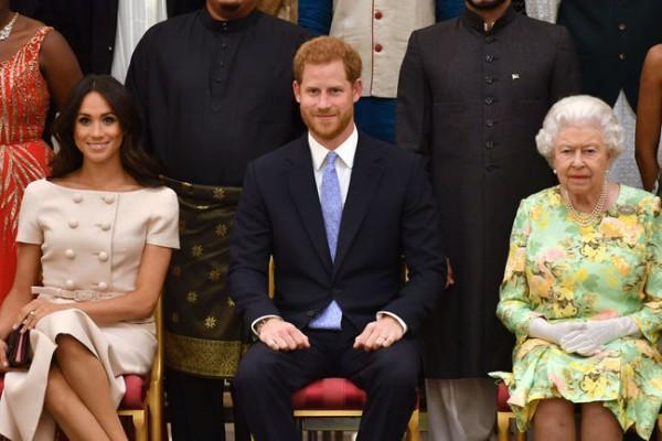 Меган Маркл, принц Гарри и Елизавета II