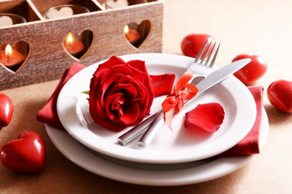 Сервировка на День святого Валентина