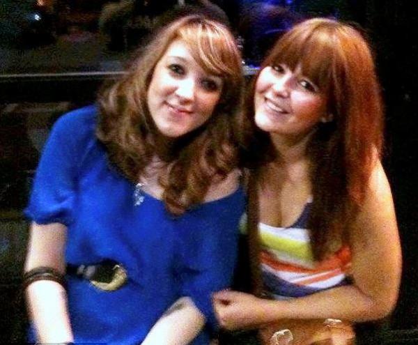На этом фото Надя (слева) на восьмом месяце беременности