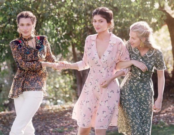 Дженнер, Хадид и Мосс в фотосессии для Vogue
