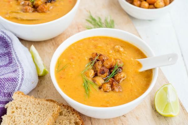 Постный суп с горохом нут