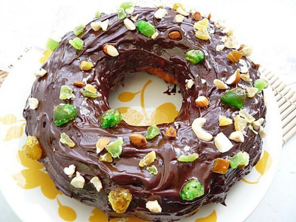Рецепт                  Медовый кекс с шоколадной глазурью