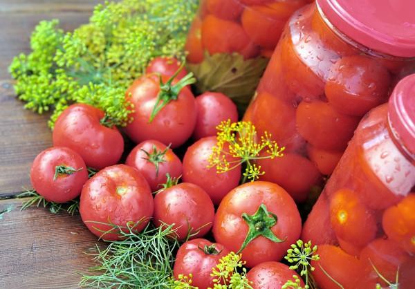Квашеные помидоры сливки