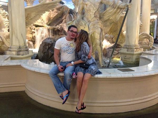 Жанна Бадоева с будущим мужем Сергеем