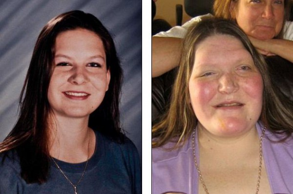 Таня Ангус: 17 лет (слева) и 31 год (справа)