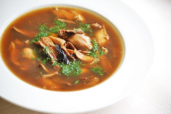 Рецепт                  Суп из сушеных белых грибов