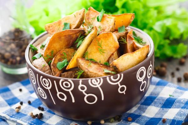 Постные картофельные дольки