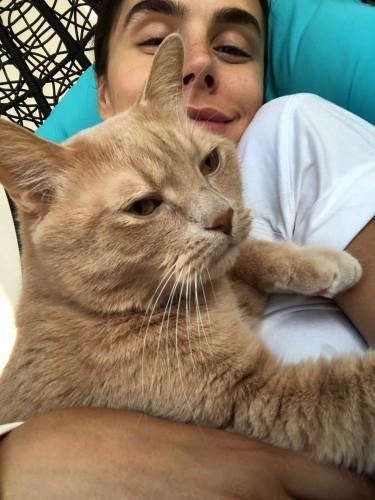 Иванна Онуфрийчук и кот Персик