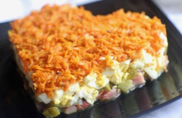 Что приготовить на 14 февраля: салат Оранжевое сердце
