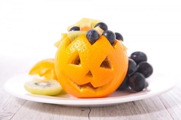 Блюдо в виде светильника Джека на Хэллоуин