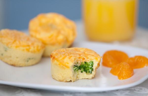 Суфле с брокколи и сыром