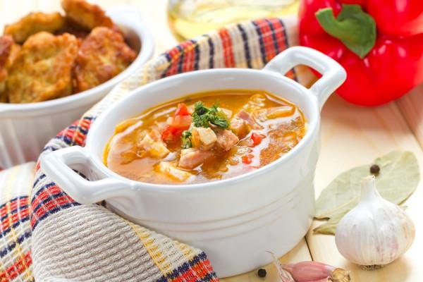 Зимний суп с горохом